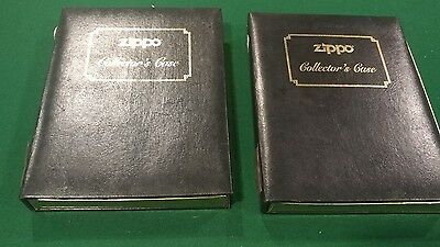 Lot of 2 ZIPPO Black & Gold COLLECTOR'S CASE Book (Holds 12 Lighters)
