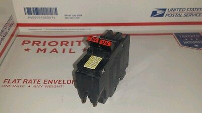 Federal Pacific used Circuit Breaker 30 amp 2 Pole Stab-Lok 240v type NC