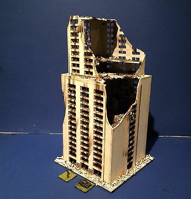 6mm Ruined Skyscraper ready to play.