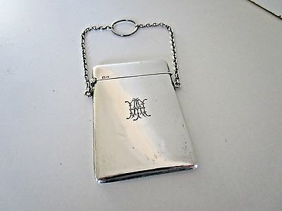 Sterling Silver Ladies Card Case..Hallmarked Chester 1916..