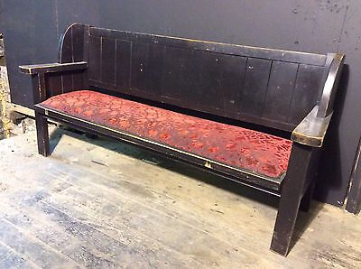 Antique Style Upholstered Large Wooden pub bench-settle, Bar, Man Cave, Kitchen