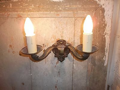 French single of gold patina bronze wall light sconce antique