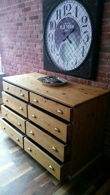 rare antique victorian stripped pine chest of drawers sideboard haberdashery