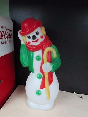 "Vintage 34"" 1971 Deby Snowman Christmas Blow Mold"