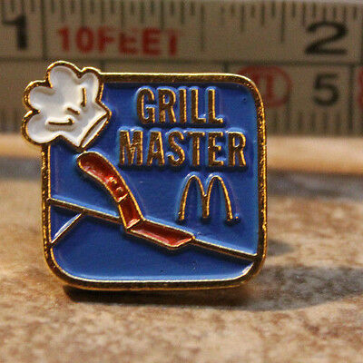 McDonalds Grill Master Employee Collectible Pinback Pin Button