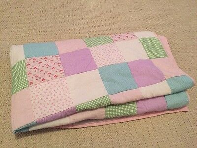 Laura Ashley Kids Girls Clementine Patchwork Bedspread / Quilt RRP £60