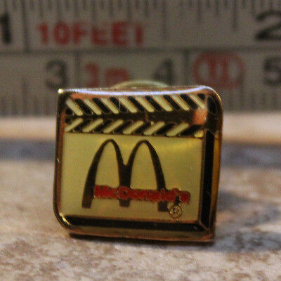 McDonalds Movie Film Set Clacker Board Employee Collectible Pinback Pin Button