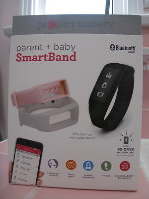 PROJECT NURSERY Parent + Baby Black SmartBand + 2 Additional Bands - Grey & Pink
