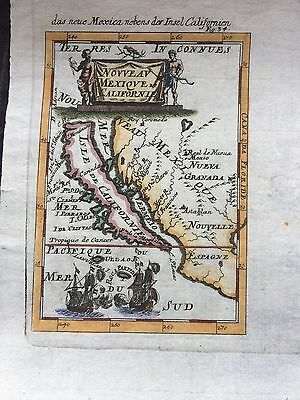 Antique 1686 Map California Shown As Island By Renowned Maker Mallet Wow!