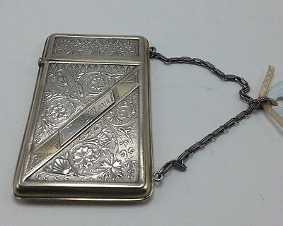 Sterling Card Case with Chain Handle