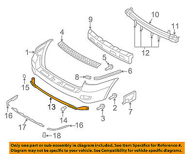 HY1195100 Rear,Lower APRON For Hyundai Santa Fe New 866252B000