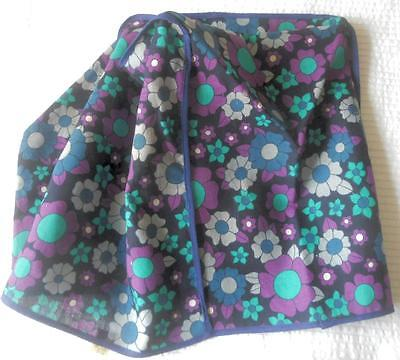 Retro Vintage 1960's Purple Blue Flower Power Toaster Mixer Appliance Cover