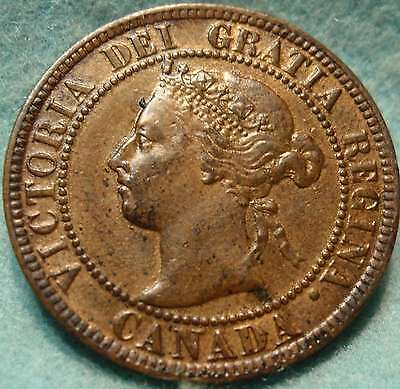 1896 AU-UNC High Grade CANADA LARGE CENT Victoria COIN CANADIAN  .-....