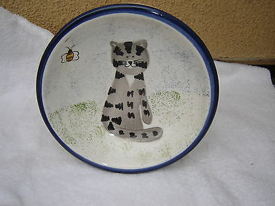 """Ceramic Cat Dish Hand Painted by Creatively Yours Gift&Design Inc 8""""dia Bowl"""