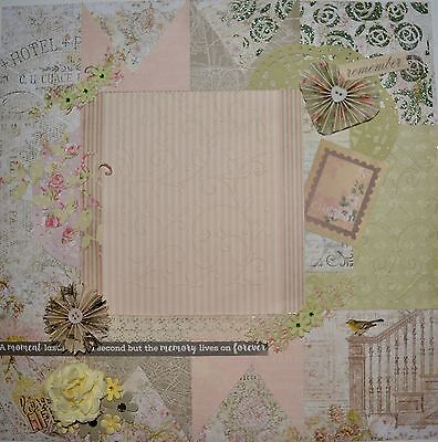 Handmade Scrapbook page - Memory Lives on Forever