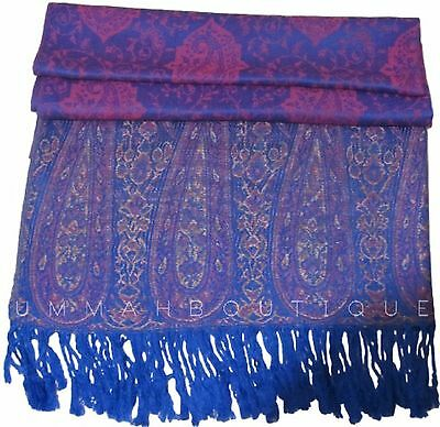 Lot of 8 Paisley Print Pashmina Scarves (hijab winter muslim)