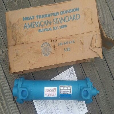"American Standard Tube/shell Heat Exchanger 14 x 3""  200/150 PSI Multi-Pass NOS"