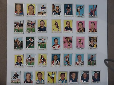 Complete Set of 1965 Scanlens VFL football cards