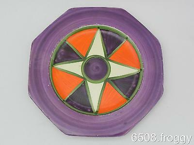 Early *BIZARRE CLARICE CLIFF* - Abstract side PLATE - Excellent
