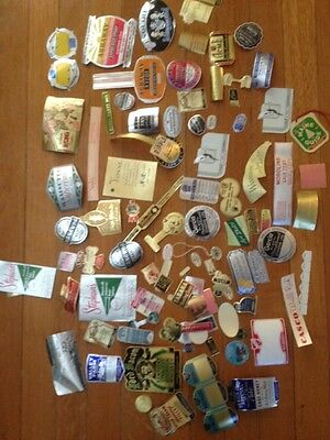 Lot #2 100 Antique Vintage Labels Advertising Cosmetics Food Liquor 1930 to 1950