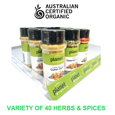 Certified Organic ~ Dried Herbs & Spices Seasoning Shaker Premium Planet Variety