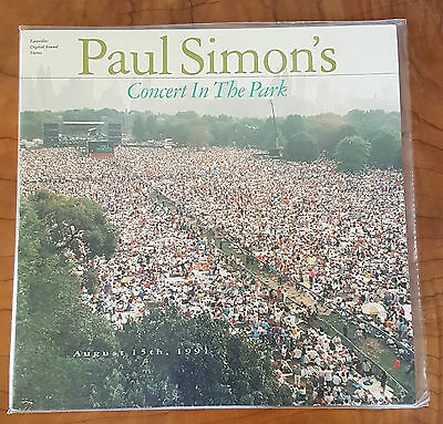 Paul Simon - Concert In The Park 1991 German Print Pal Garfunkel New York Laser