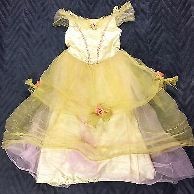 Disney Princess Belle Dress Beauty And The Beast Girl's Size M 7 8
