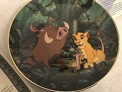 Disney Lion King A Crunchy Feast #3 Collector Plate Bradford Exchange