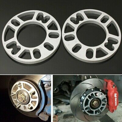 4X Thickness 5mm Alloy Wheel Spacers Shims Universal Car Spacer 4 & 5 Stud Fit