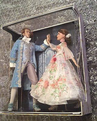 NEW Disney Store Beauty and the Beast Platinum Limited Dolls Set Belle Prince LE