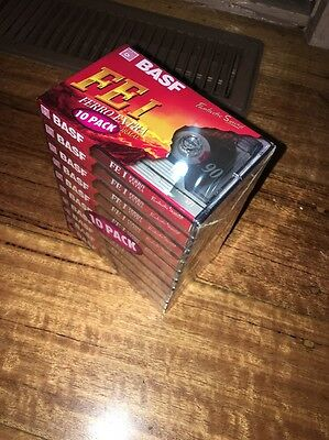 BASF FEI FERRO EXTRA 90 Blank Cassette Tapes 10 Pack New Sealed