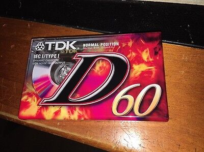 TDK D60 Type I Blank Cassette Tape Brand New Sealed