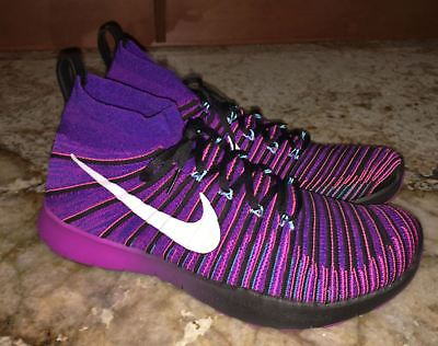 d4e6bc145fde NIKE Free Train Force Flyknit Purple Black Pink Running Training Shoes Mens  13