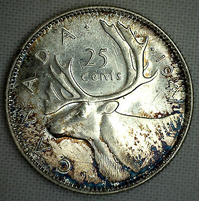 1941 Canada 25 Cents Quarter Silver Coin KM#35 Canadian Uncirculated