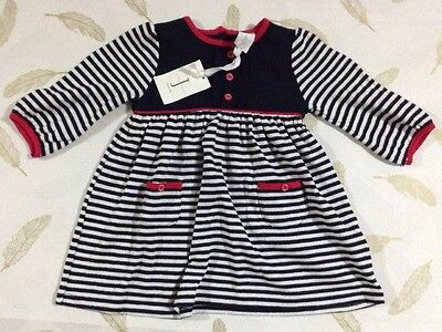 Jasper Conran Junior Baby Girls Long Sleeve Dress 3-6 Months New
