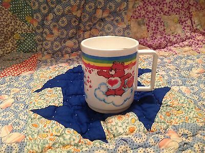 Care Bears Vintage Cup Deka 1983 Plastic Painting Rainbow Lots Of Love Birthday