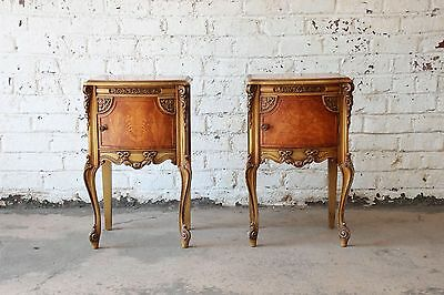 Pair of Vintage French Carved Nightstands