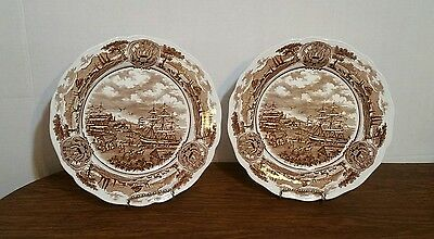 """Two - J&G Meakin Royal Staffordshire AMERICAN LEGEND Dinner Plates, 10 1/4"""""""