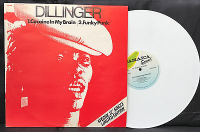 "DILLINGER ""Cocaine In My Brain"" 12"" 45rpm WHITE vinyl JAMAICA sound 1979 JSD916"