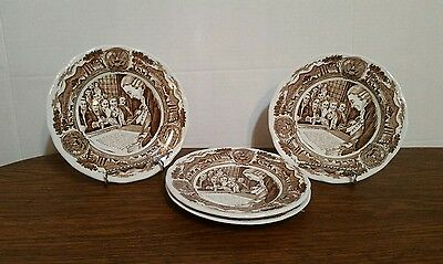 Four - J&G Meakin Royal Staffordshire AMERICAN LEGEND Saucers - 6 3/4""