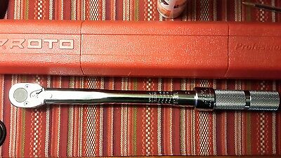 Proto 6008a 1/2 Drive 10 - 80 Ft/Lb. Ratcheting Head Micrometer Torque Wrench