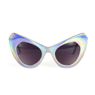 UNIF The Shady's Holographic Cat Eye Hologram Sunglasses