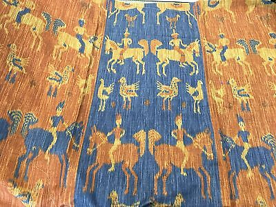 Cowtan & Tout Ratti' D 'cavaliere'  Rust & Navy Print Fabric See Below For Size
