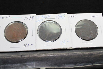 Great Britain 3 assorted coins/token from 1700s  lot G 772