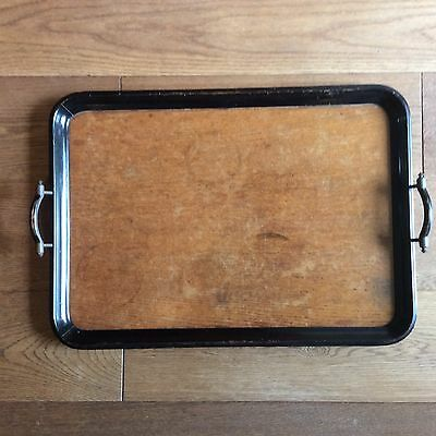 Antique/ Vintage Butlers Tray Metal & Wood Quality