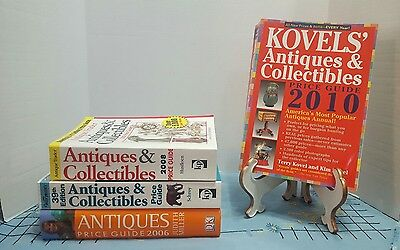 Lot of 4 Price Guide Books- Kovel's, Warman's, Antique Trader & Judith Miller