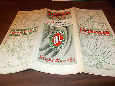 1930 Sinclair Pennsylvania Vintage Road Map / Not Common !!