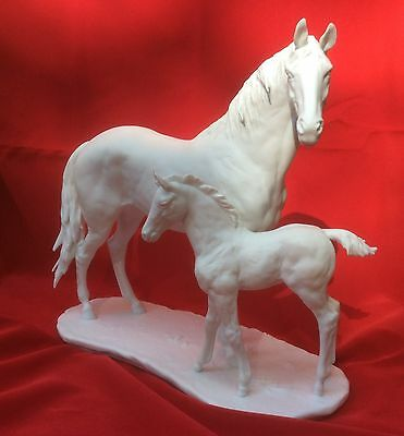 Limited Edition Kaiser Porcelain Thouroughbred Mare and Foal