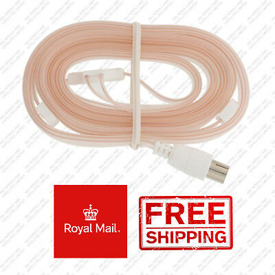 BRAND NEW Indoor Fm Ribbon Aerial Hi-Fi Dipole Noodle Antenna Coaxial Connection