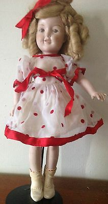 Shirley Temple Full Porcelain Doll.  Collectable Rare! Handmade.